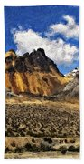 The High Andes Painted Version Beach Towel