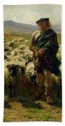 The Highland Shepherd Beach Towel by Rosa Bonheur
