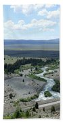 The Highway And The River Beach Towel