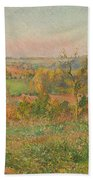 The Hills Of Thierceville Seen From The Country Lane Beach Towel