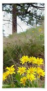 The Hillsides Are Alive Beach Towel