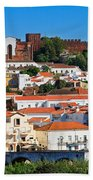 The Historic Town Of Silves In Portugal Beach Towel