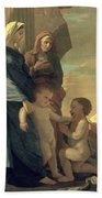 The Holy Family Beach Towel by Nicolas Poussin