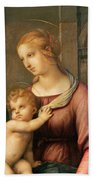 The Holy Family Beach Towel by Raphael