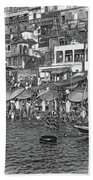 The Holy Ganges - Paint Bw Beach Towel