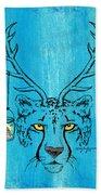 The Horned Cheetah Beach Towel