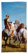 The Horse Of Submission Beach Towel by Louis Eugene Ginain