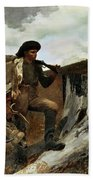 The Hunter And His Dogs Beach Towel by Winslow Homer
