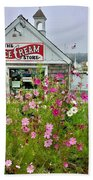 The Ice Cream Store On Bearskin Neck Beach Towel