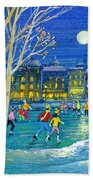 The Iceskaters Beach Towel