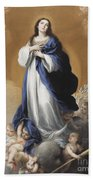 The Immaculate Conception  Beach Towel by Bartolome Esteban Murillo