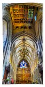 The Interior Of The Southwark Cathedral  Beach Towel