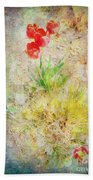 The Introverted Tulip Beach Towel