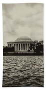 The Jefferson Memorial Beach Towel by Bill Cannon