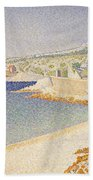 The Jetty At Cassis Beach Towel