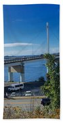 The John O'connell Bridge Is A Cable-stayed Bridge Over The Sitk Beach Towel