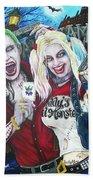 The Joker And Harley Quinn Beach Towel