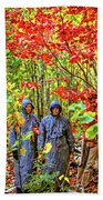 The Joys Of Autumn Camping Beach Towel