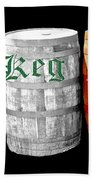The Keg Room Irish Flag Colors Old English Hunter Green Beach Towel