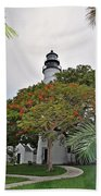 The Key West Lighthouse Beach Towel