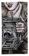 The King Of Cameras Beach Sheet