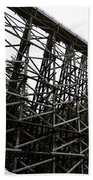 The Kinsol Trestle Panorama View On Snowy Day 1. Beach Towel