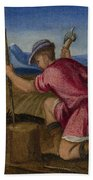 The Labours Of The Months   February Beach Towel