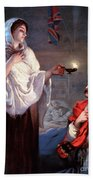 The Lady With The Lamp, Florence Beach Towel by Science Source