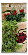 the Ladybug Beach Towel