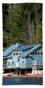 The Lake House - Digital Oil Beach Towel