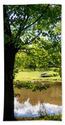 The Lake In The Park Beach Towel