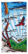 The Last Frontier Original Madart Painting Beach Towel