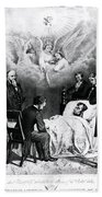 The Last Moments Of President Lincoln Beach Towel by Photo Researchers