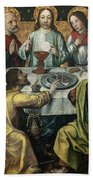 The Last Supper Beach Towel by Godefroy