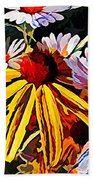 The Light Within The Flowers Beach Towel