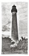 The Lighthouse At Cape May Beach Towel