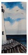 The Lighthouse Beach Towel