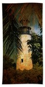 The Lighthouse In Key West Beach Towel