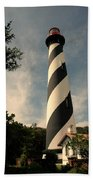The Lighthouse In St.augustin Fl Beach Towel
