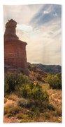 The Lighthouse - Palo Duro Canyon Texas Beach Towel
