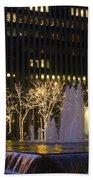 New York City Lights Beach Towel
