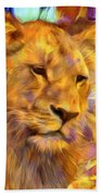 The Lioness  Beach Towel
