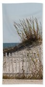 The Little Dune And The White Picket Fence Beach Towel
