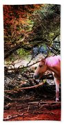 The Little Pink Unicorn By Pedro Cardona Beach Towel