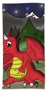 The Little Red Dragon Beach Towel