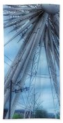 The Liverpool Wheel In Blues 3 Beach Towel