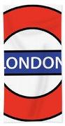 The London Underground Beach Towel