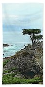 The Lone Cypress Stands Alone Beach Towel