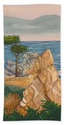 The Lone Cypress Tree Beach Towel