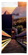 The Long Long Stairway    Beach Towel